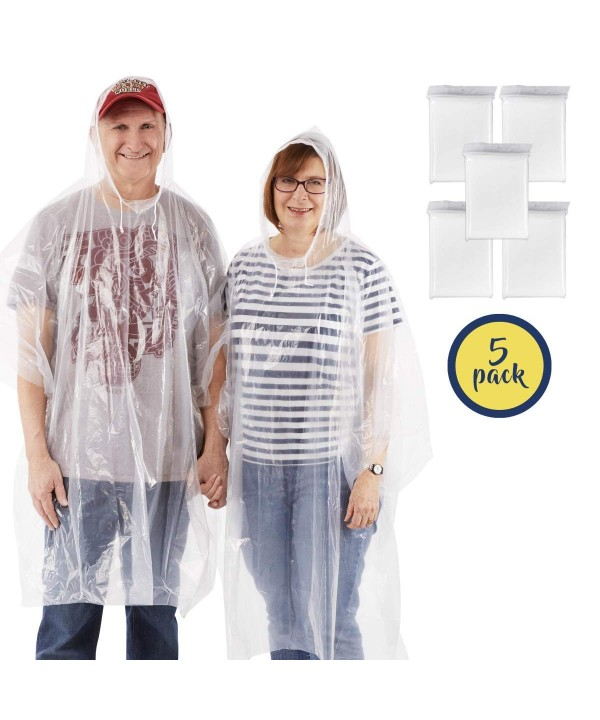 Rain Poncho Drawstring Hood Lightweight
