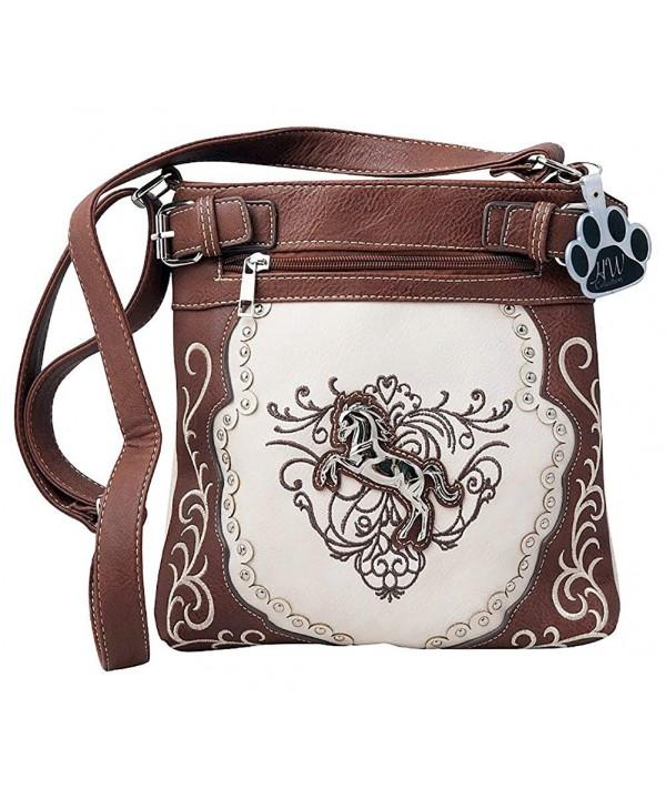 Western Horse Equestrian Handbag Concealed Carry Crossbody Messenger Bag Purse