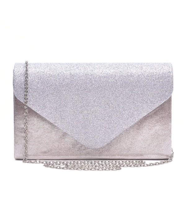 Dasein Evening Envelope Frosted Handbag
