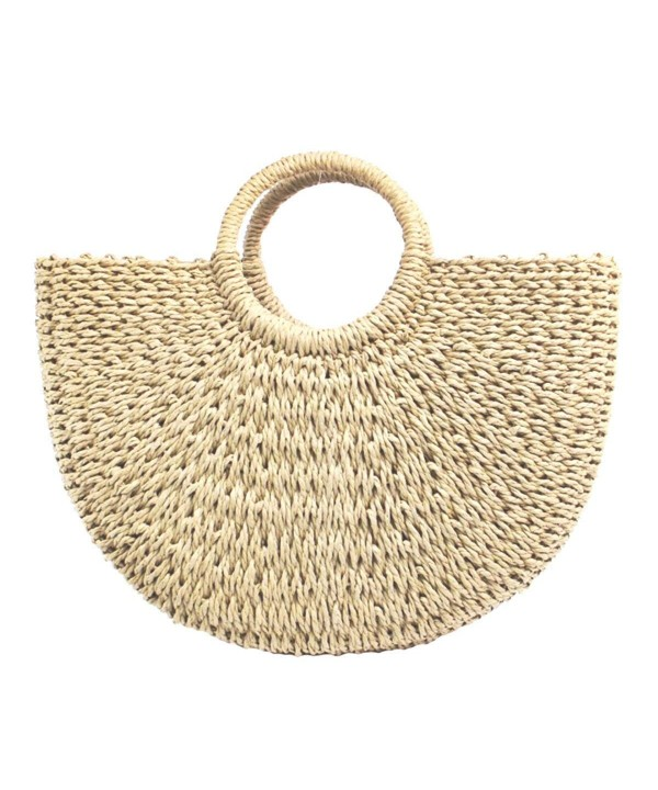Straw Hand woven Handle Summer bag