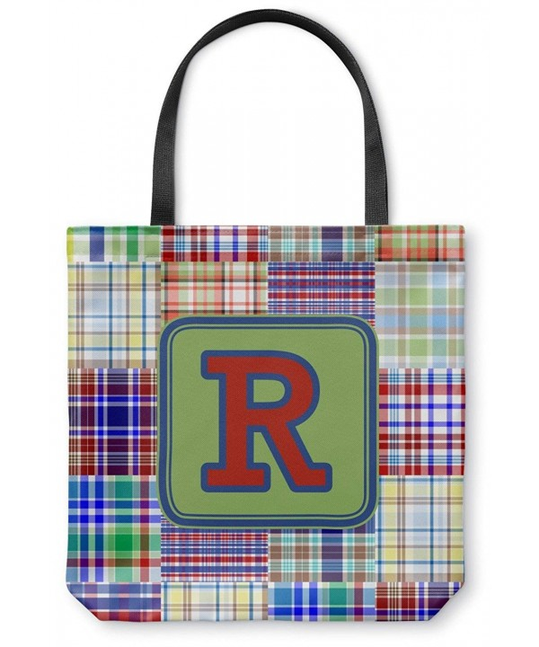 Madras Plaid Print Canvas Personalized