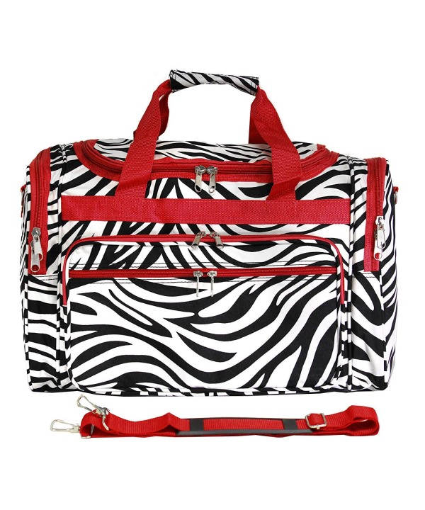 Luggage Duffle Trim Zebra Size