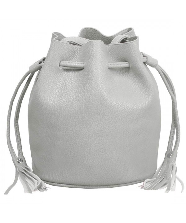 Elephant Textured Leather Drawstring Fashion