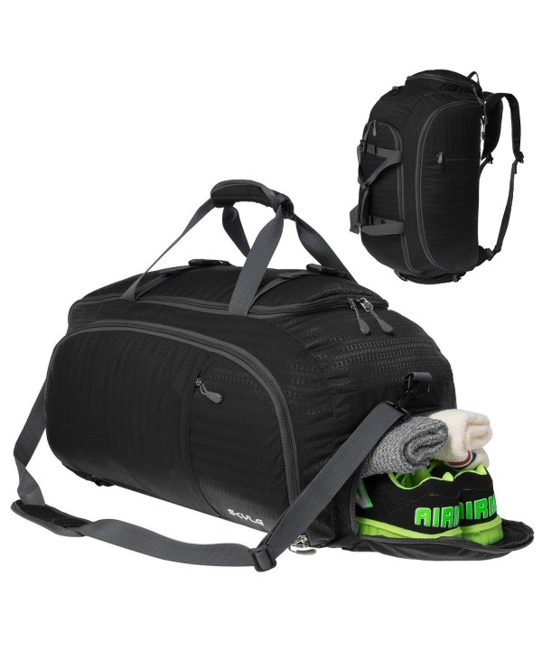 6542b7bdd7d 3-Way Travel Duffel Bag Backpack Travel Luggage Gym Sports Bag Shoe ...