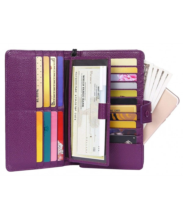 AINIMOER Blocking Organizer Checkbook Purple