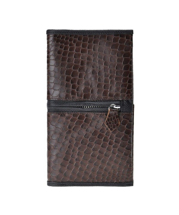 ZLYC Genuine Alligator Pattern Leather