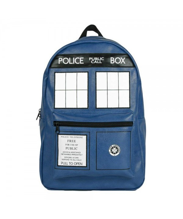 Doctor Who Tardis Leather Backpack