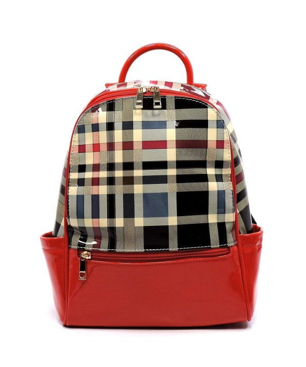 Tartan Plaid Check Backpack Handbag