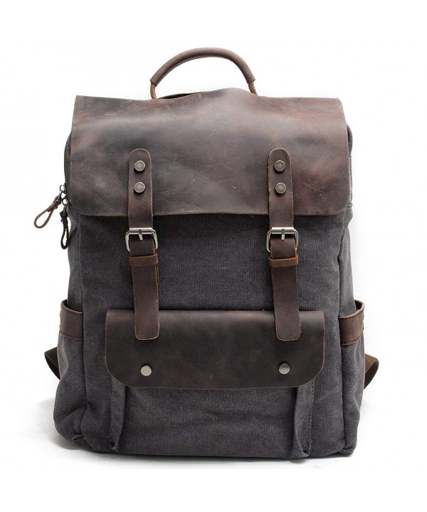 Kenox Leather Rucksack Backpack College