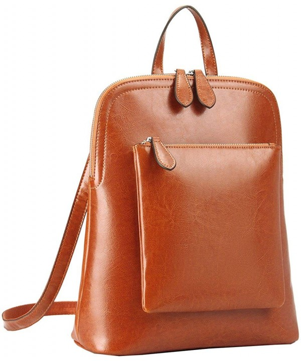 Womens Vintage Leather Backpack Daypack