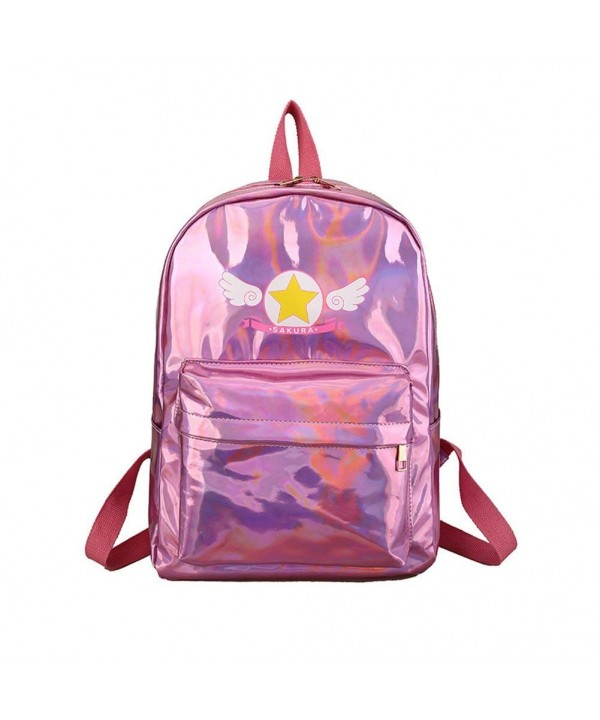 Anlydia Holographic Leather Backpack Satchel