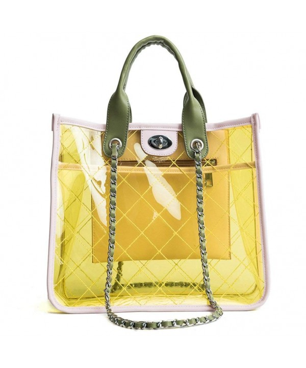 Quilted Shoulder Transparent Waterproof Handbag