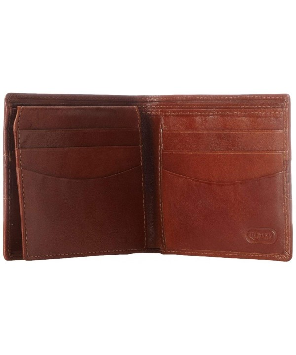 Leatherbay Double Fold Wallet Cognac