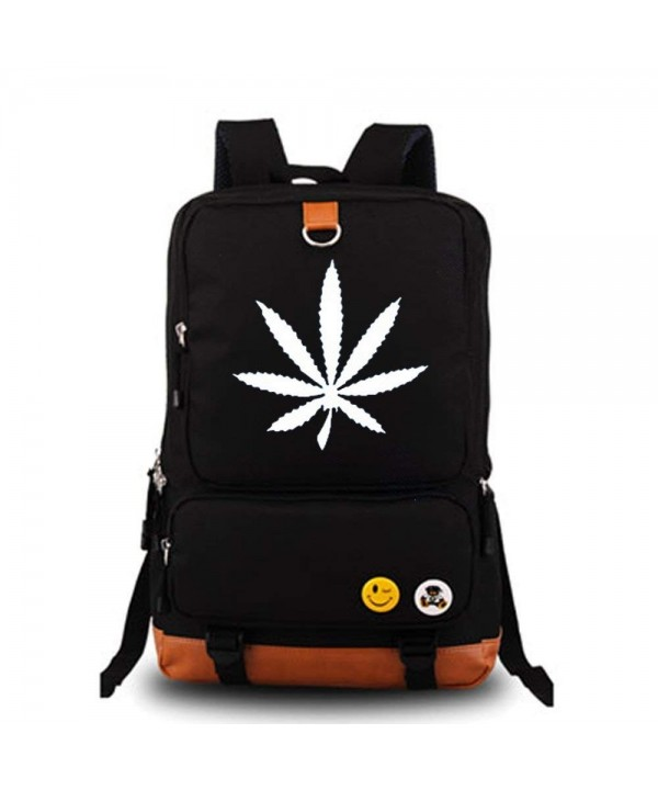 YOLEOLY Luminous Marijuana Cannabis Backpack
