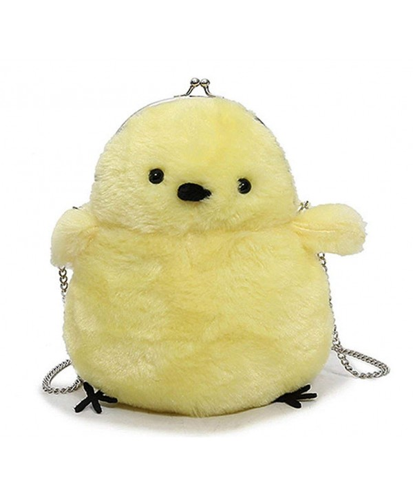 Cartoon Chicken Plush Shoulder Handbag