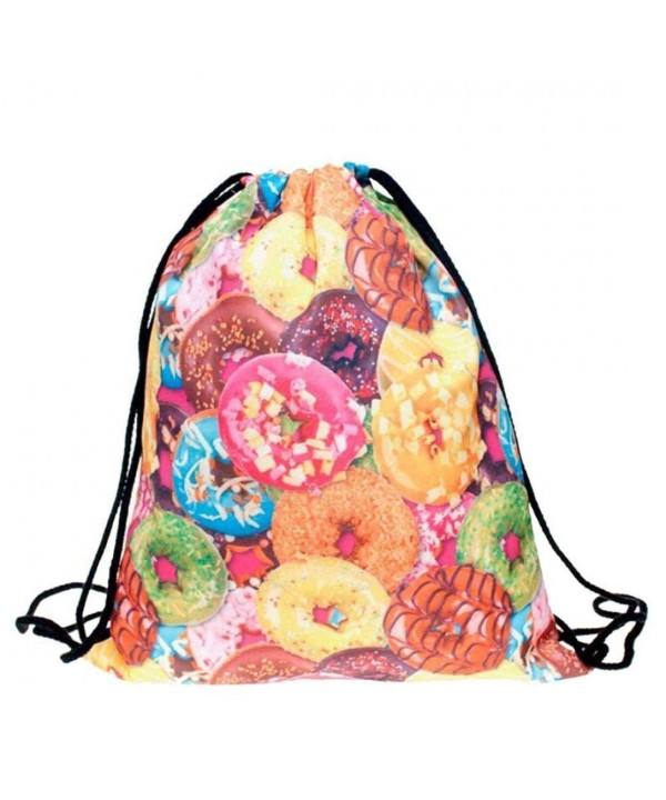 BESSKY Fashion Printing Drawstring Backpack