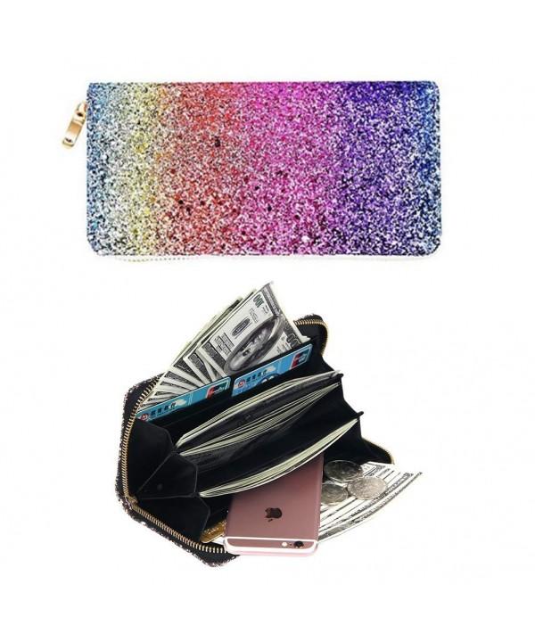 Badiya Colorful Print Around Wallet