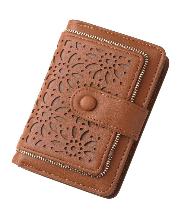 Blocking Vintage Organizer Wallet Ladies