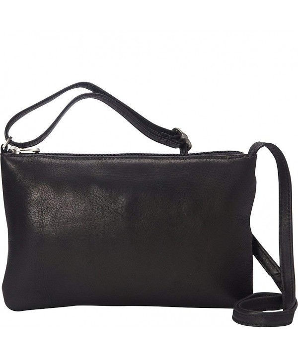 Donne Leather Apricot Crossbody Black