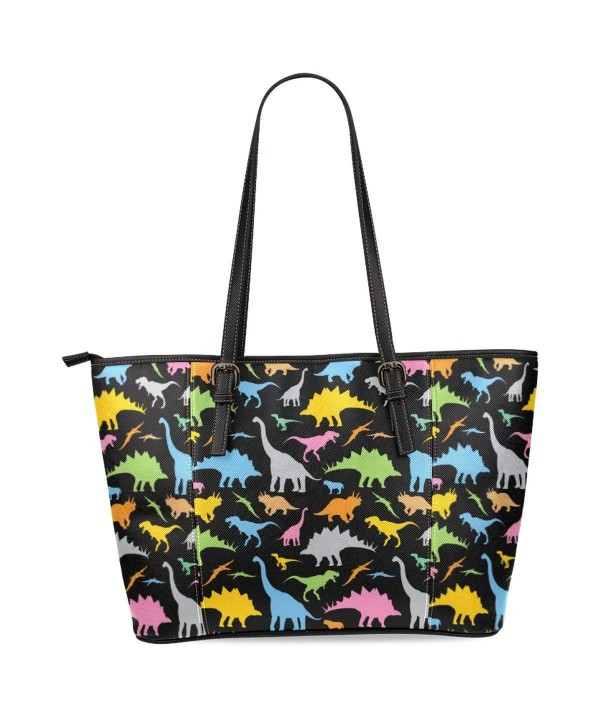 InterestPrint Dinosaur Leather Shoulder Handbags