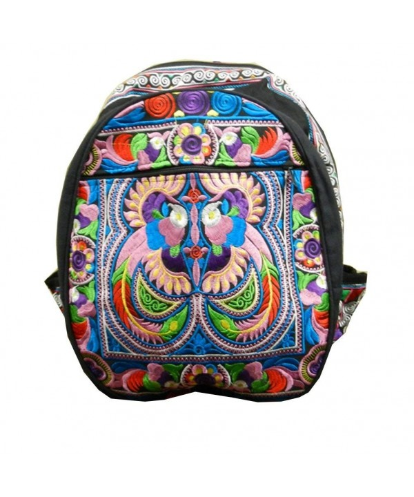 Backpack Ethnic Embroidered Hippie Multicolour