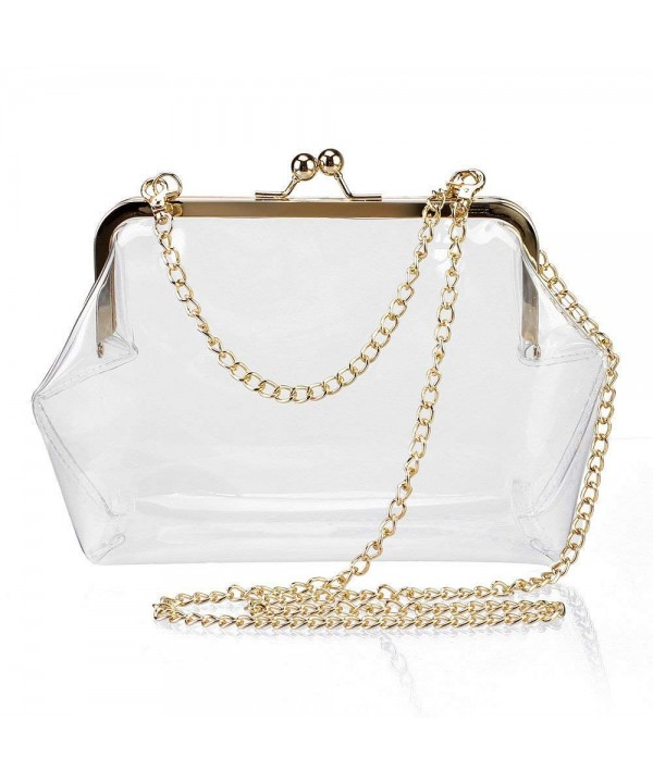 Crossbody Transparent Shoulder Clutch Removable