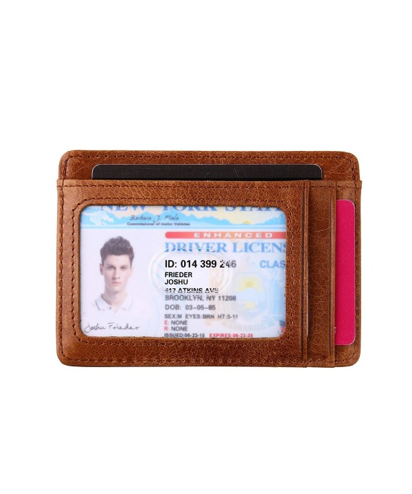 Wallet Blocking Genuine Leather Credit
