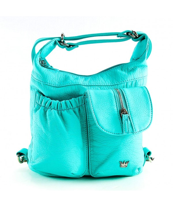 Purse King Butterfly Convertible Turquoise