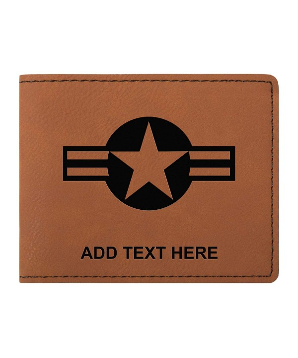 Personalized Stripes Rawhide Leather Bifold