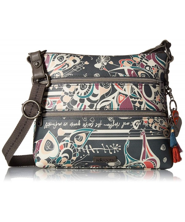 Sakroots Basic Crossbody Shadow Songbird