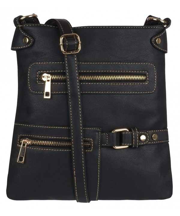 Eye Catch Leather Messenger Shoulder