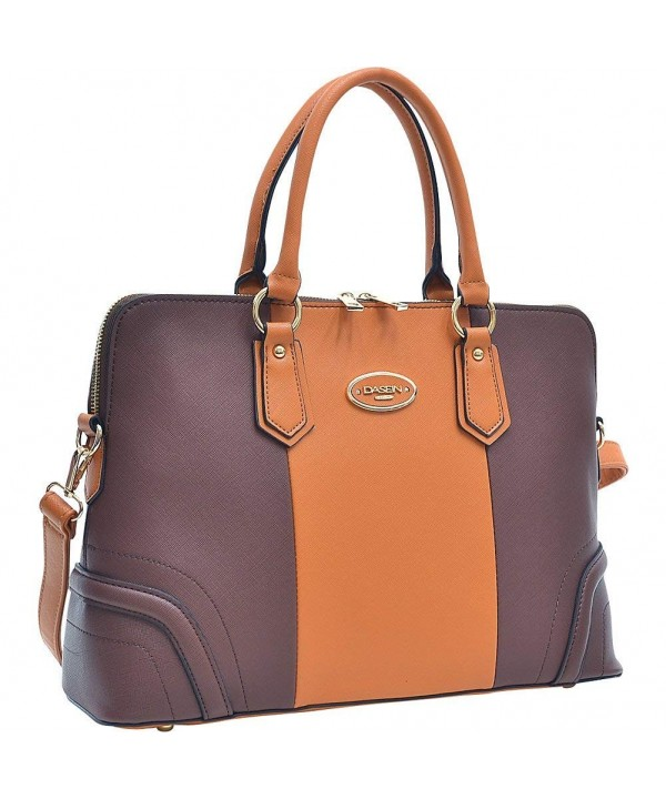 Dasein Colorblock Briefcase Removable Shoulder