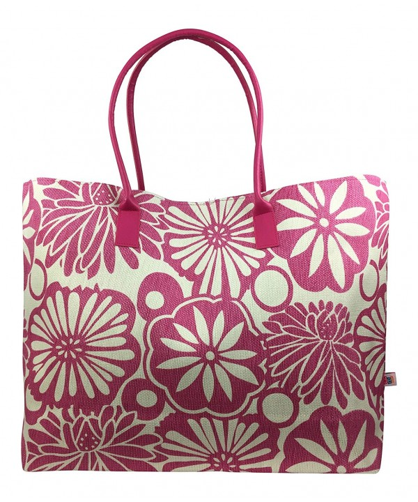 Tropical Fantasy Pink Woven Floral