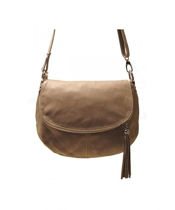 Trastevere Womens Hobo Cross Beige