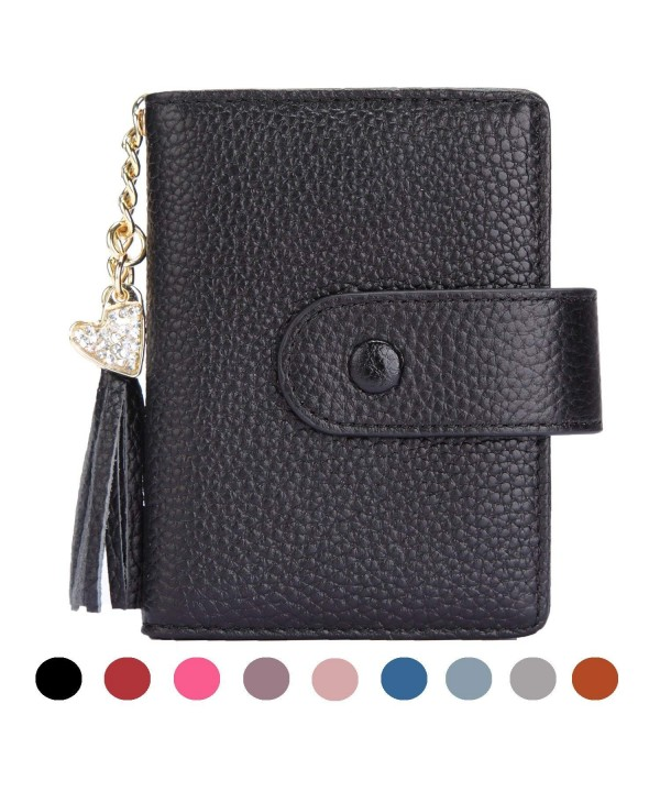 Womens Credit Wallet Window Colorslack###2018 New Women Wallets for Sale