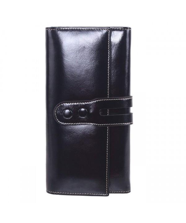 AINIMOER Womens Leather Clutch Wallet