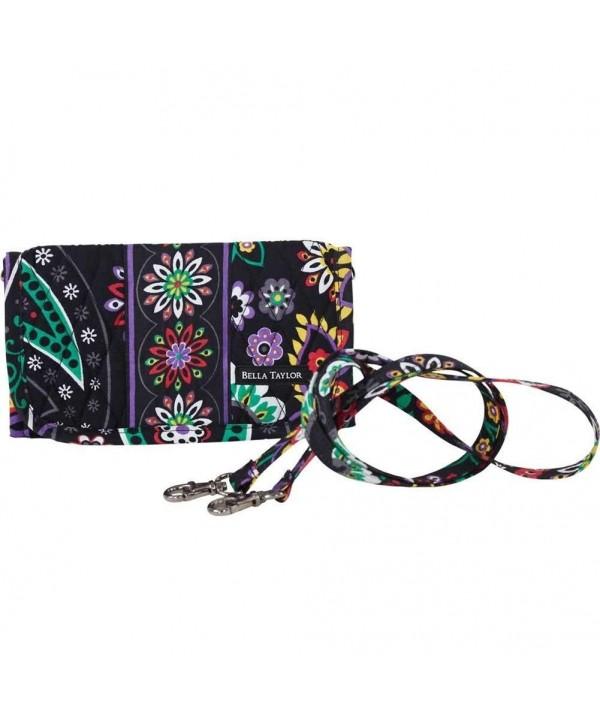 Quilted Purse Handbag Wallet Purple