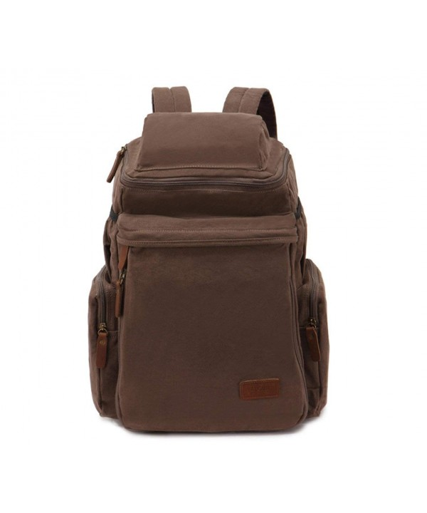 Herebuy Vintage Canvas Backpack College