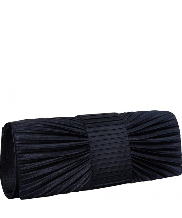 J Furmani Pleated Clutch Silver