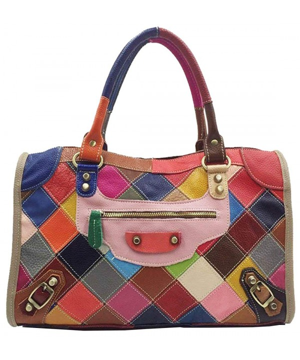 Multi color Top handle Cross body Shoulder Colorful 3