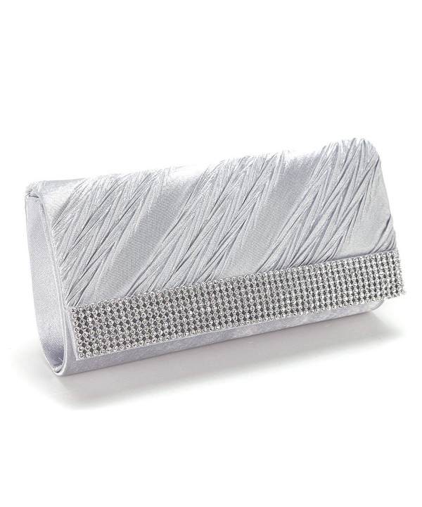 Anladia Womens Diamante Clutch Wedding
