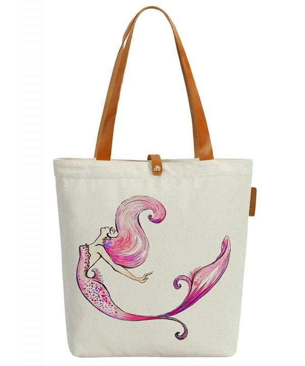 Soeach Colourful Mermaid Graphic Shoulder
