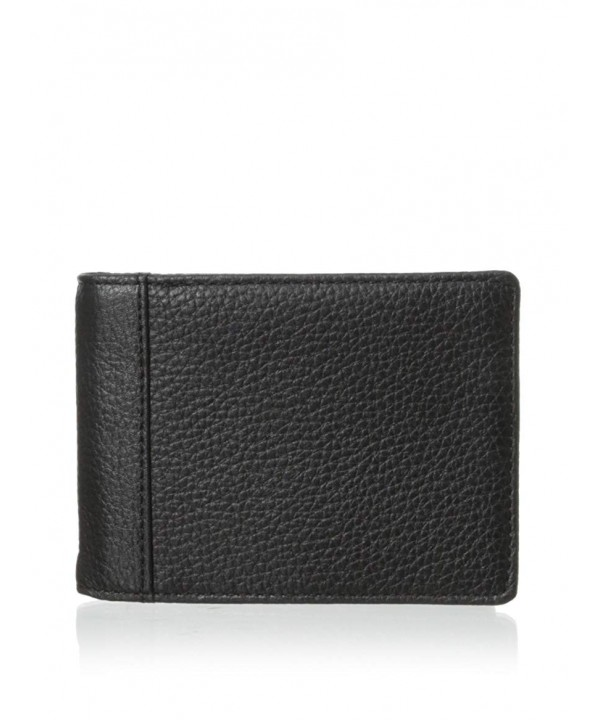 Trafalgar Hawthrone Leather Money Clip Black