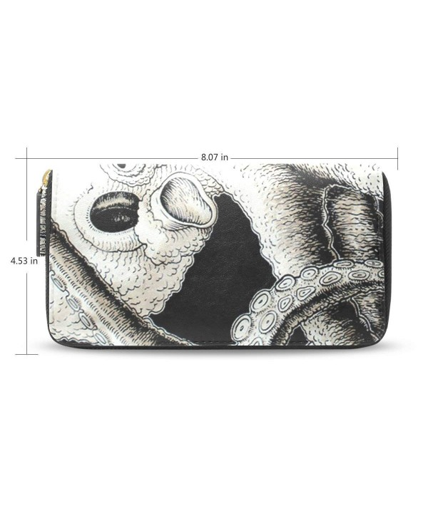 Womens Octopus Pattern Leather Wallet