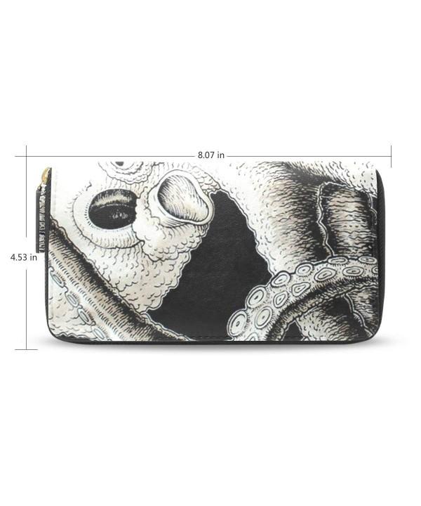 Womens Octopus Pattern Leather Wallet