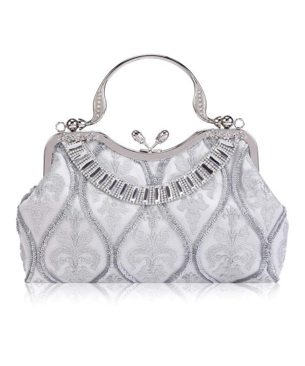 Damara Womens Embroidery Layer Silver