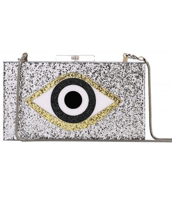 Acrylic Glitter Perspex Handbags Sliver eye