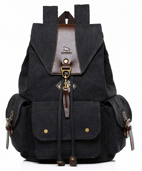 MANJH Canvas Backpack Rucksack Daypack