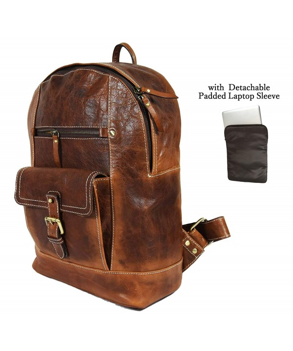 Leather Backpack Detachable Rucksack Aaron
