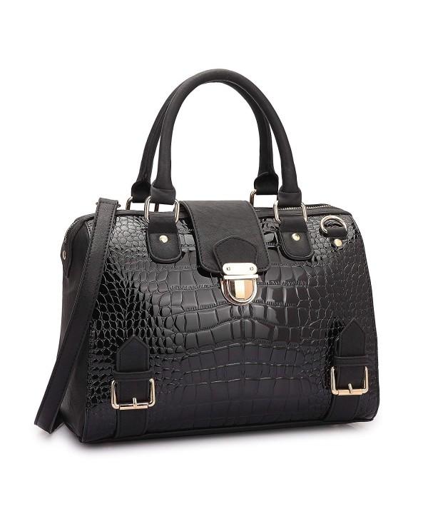 Crocodile Designer Handbags Structured Shoulder